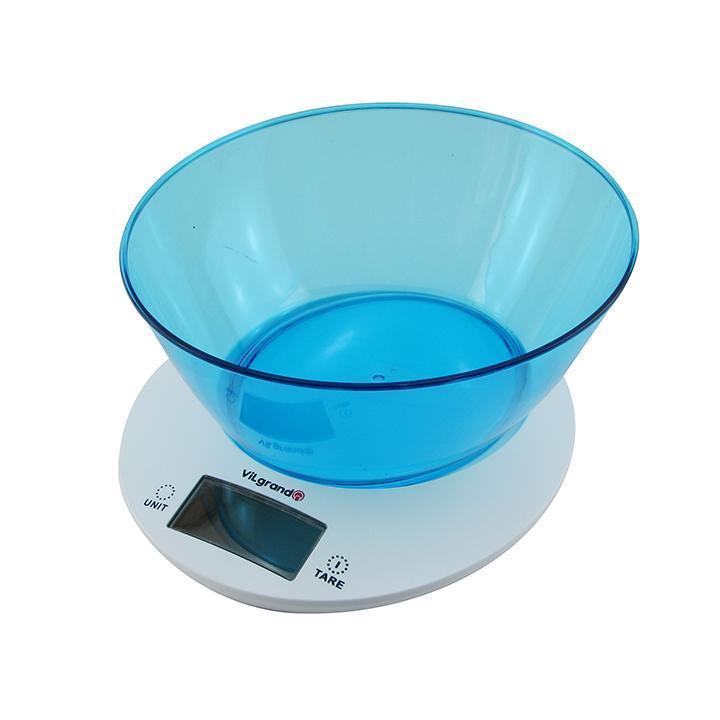 Весы кухонные VILGRAND VKS533Cblue с чашей