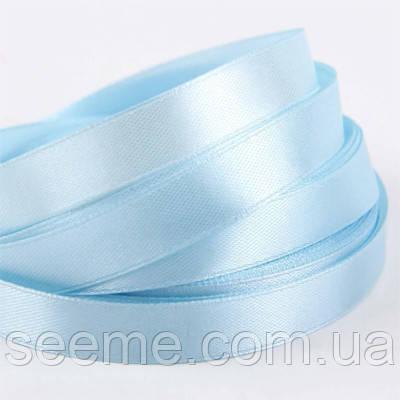 Стрічка атласна 12 мм, колір ніжно-блакитний