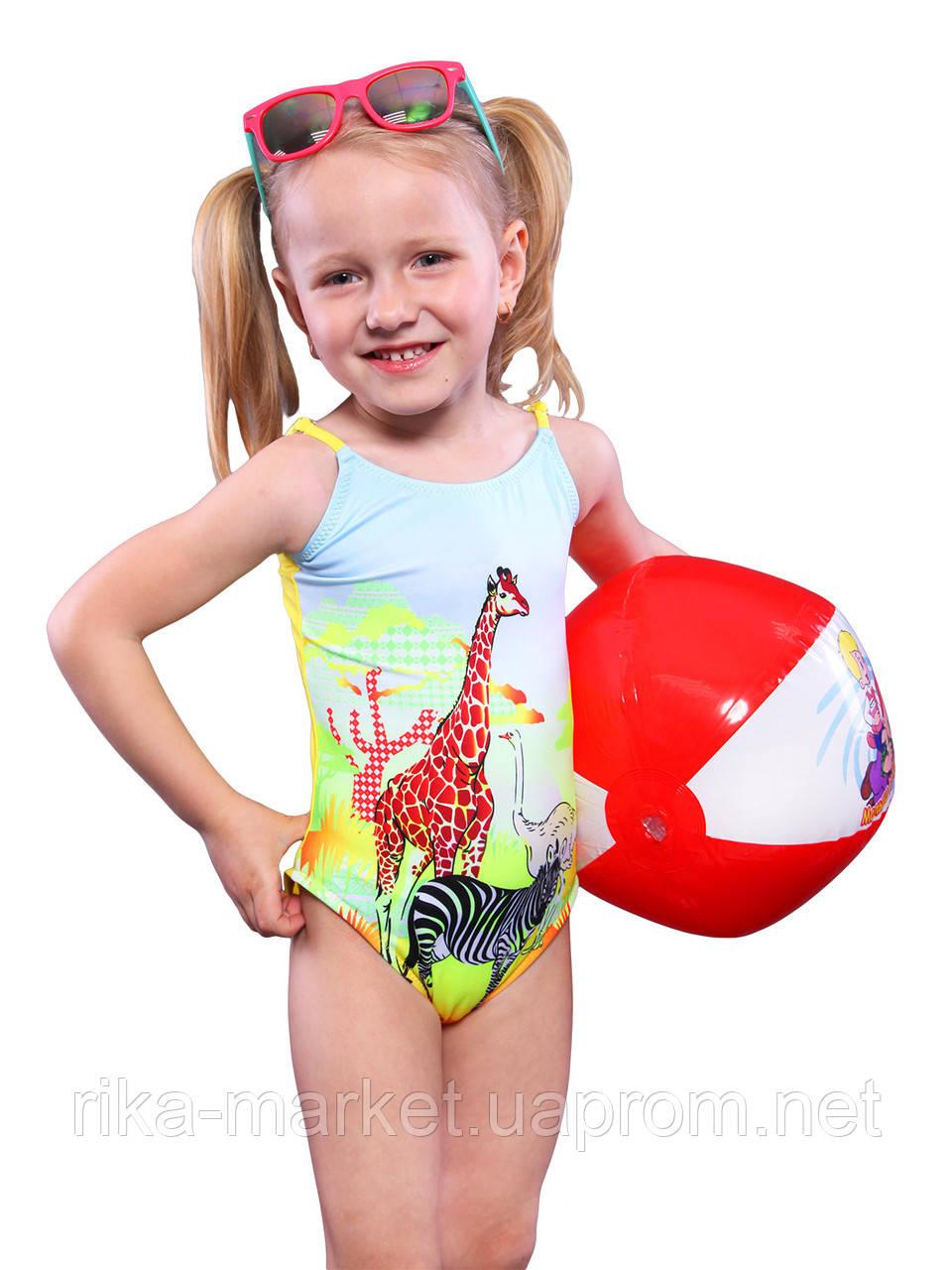 Цельный купальник для девочки Keyzi, от 2 до 6 лет, Safari