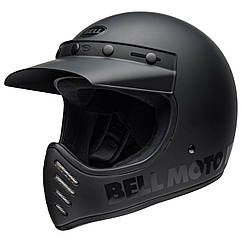 Шлем кроссовый Bell Moto-3 Blackout Matt/Gloss