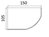 Ванни асиметричні Koller Pool 150х105