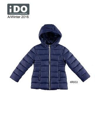 Детская куртка для девочки Верхняя одежда для девочек iDO Италия 4.R953 Синий