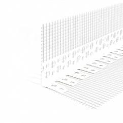 Кутник контрошульц пластиковий з сіткою для відкосів 10*15 2,50м