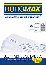 Етикетки самоклеючі 1шт /л. 210х297мм 100л
