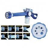 Насадка на шланг распылитель воды с отсеком для моющих средств Ez Jet Water Cannon Бело-синий (n-564), фото 5