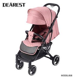 Коляска Dearest 818 Пурпурно-Розовая, рама черная, фото 2