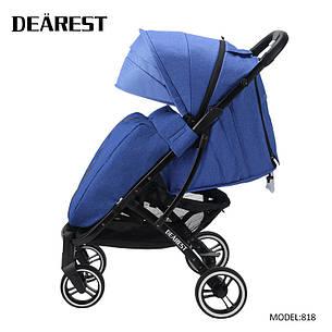 Коляска Dearest 818 Синяя, рама черная, фото 2
