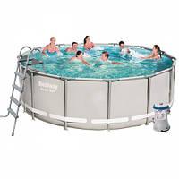 Каркасный бассейн Bestway 56444 размер 427х122 с картриджем и фильтром