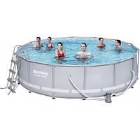 Каркасный бассейн Bestway 56451 размер 488х122 с картриджем и фильтром