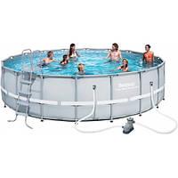 Каркасный бассейн Bestway 56427 размер 549х132 с картриджем и фильтром