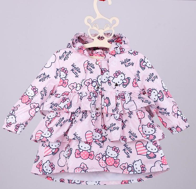 Розовый демисезонный плащ Hello Kitty для девочки 80-134 р