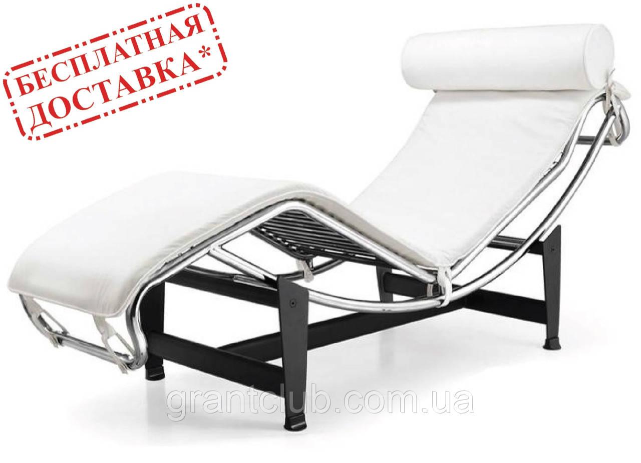 Шезлонг Лекор белый кожзам СДМ группа (бесплатная доставка)