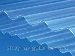 Прозрачный кровельный лист Salux, волна прозрачный 1800*900