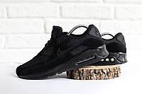 Мужские кроссовки черные Nike Air Max 90