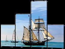 Модульная картина Корабль с парусами 126*94 см Код:W577M