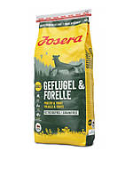 Сухой корм Josera Dog Geflugel & Forelle беззерновой высокобелковый для взрослых собак (птица) 15кг