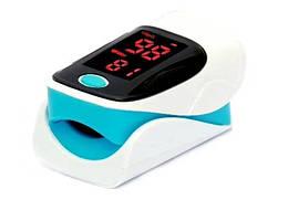 Пульсоксиметр пульсометр на палец Heal Force 303с уровень кислорода в крови и пульс Бело-голубой (hf_303c)