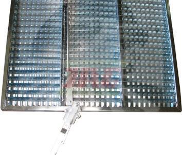 Сито жалюзійне оцинковане верхнє 752x1739mm Claas 736060 736060