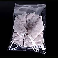 Полипропиленовые пакеты с верхним клапаном и клейкой лентой 350-450мм+кл. 25мкм