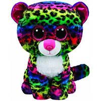 "Мягкая детская игрушка плюшевая Разноцветный леопард ""Dotty"" TY Beanie Boo's, 25 см"