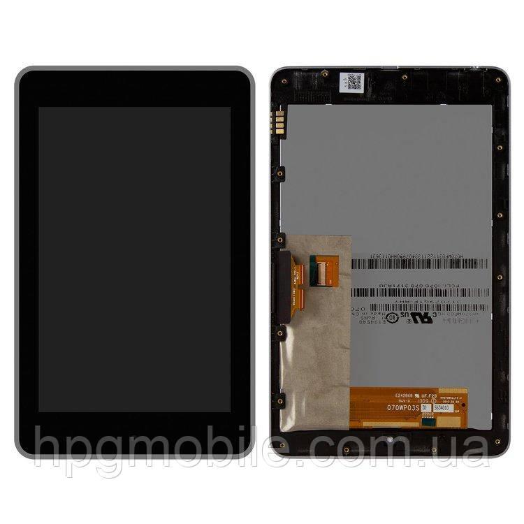 Дисплей для Asus Nexus 7 Google (2012) ME370T, модуль в сборе (экран и сенсор), с рамкой, черный
