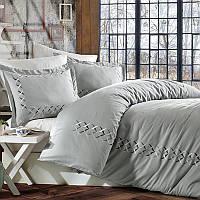 Комплект постельного белья сатин люкс c вышивкой евро Dantela Vita Elina
