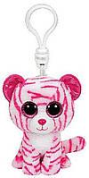 Мягкая детская игрушка-брелок TY Beanie Boo's Тигренок Asia 12 см., розовый