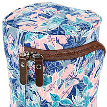 Сумка для йога коврика Yoga bag KINDFOLK FI-8362-2 (размер 17смх72см, полиэстер, хлопок, розовый-голубой), фото 2