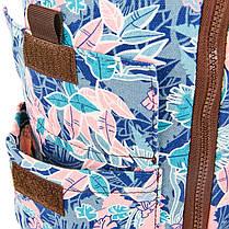 Сумка для йога коврика Yoga bag KINDFOLK FI-8362-2 (размер 17смх72см, полиэстер, хлопок, розовый-голубой), фото 3