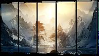Модульная картина Восточный замок в горах 118*64 см Код:  W522-S