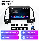 Junsun 4G Android магнитола для hyundai Santa Fe 2 2006-2012 wifi, фото 2