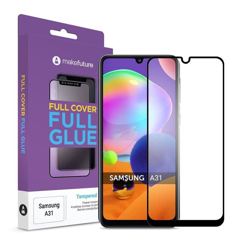 Защитное стекло MakeFuture для Samsung Galaxy A31 M-A315 Full Cover Full Glue, 0.25 mm (MGF-SA31)