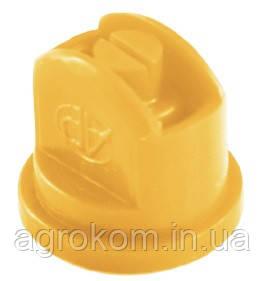 Распылитель плоскоструйный полимерный AP120 AGROPLAST 02 желтый