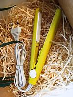 Міні прасочку для волосся дорожній в прозорому кейсі, щипці для волосся, міні-утюжок випрямляч/ магазин Gipo