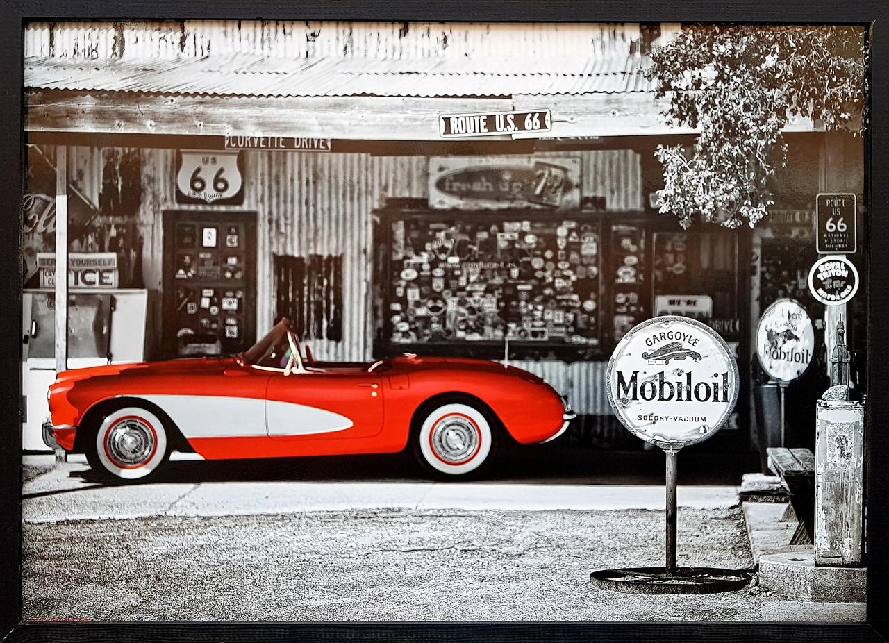 "Фотокартина в деревянной раме ""Car 1"", 50х70 см"