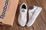 Мужские кожаные летние кроссовки, перфорация Reebok Classic  White (;), фото 10