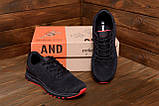 Чоловічі кросівки літні сітка BS RUNNING SYSTEM Black, фото 9