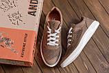 Чоловічі шкіряні літні кросівки, перфорація, фото 9