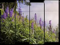 Модульная картина Цветы на берегу 106x79 см  W2822M