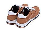 Мужские кожаные летние кроссовки, перфорация Reebok Classic Brown, фото 6