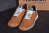 Мужские кожаные летние кроссовки, перфорация Reebok Classic Brown, фото 9