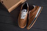 Мужские кожаные летние кроссовки, перфорация Reebok Classic Brown, фото 10