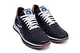 Мужские кожаные летние кроссовки, перфорация Reebok Classic black, фото 3