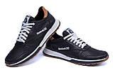 Мужские кожаные летние кроссовки, перфорация Reebok Classic black, фото 4