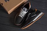 Мужские кожаные летние кроссовки, перфорация Reebok Classic black, фото 10