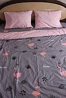 ДВУХСПАЛЬНОЕ Постельное белье ЛЮКС  Комплект двухспальный  100% хлопок Фламинго