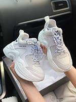 Нейкед Вольф Вайт Женские кроссовки белые Naked Wolfe White Кроссовки реплика класса ААА+. Кроссовки для бега