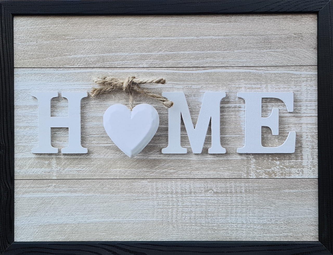 "Фотокартина в деревянной раме ""Home 2"", 30х40 см"