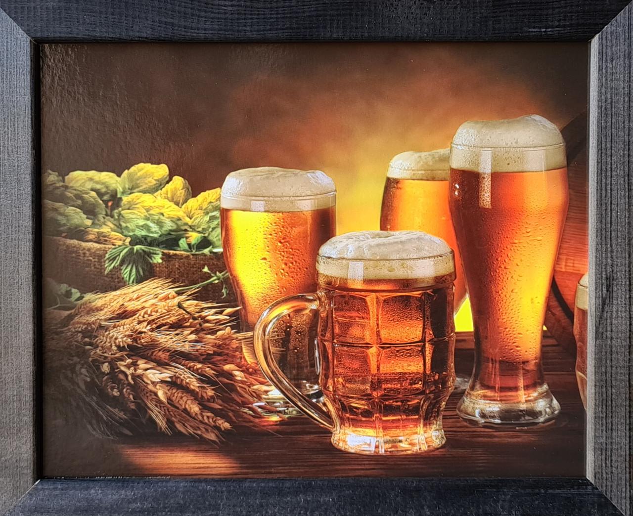 """Фотокартина в деревянной раме """"Beer 1"""", 20х25 см"""