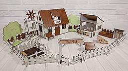Сельский домик для кукол LOL с фермой, мебелью и светом